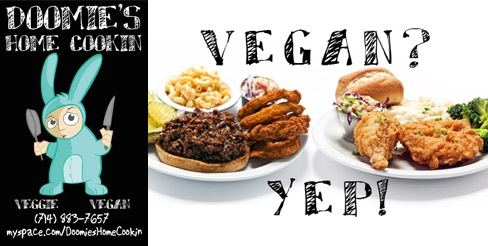 $5 for $10 Worth of Vegan Food and Drink at Doomie's Home Cookin'