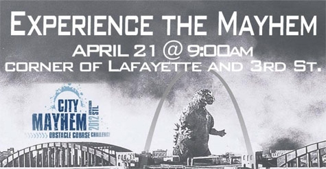 $25 for Admission and More to City Mayhem 4 Mile Obstacle Course Run on April 21