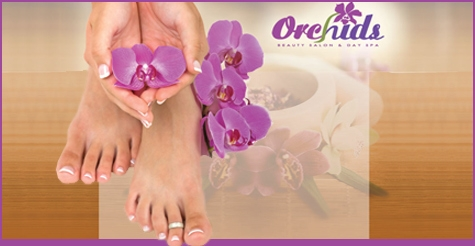 $20 for a mani/pedi, brow waxing and glass of wine from Orchids Beauty Salon & Spa