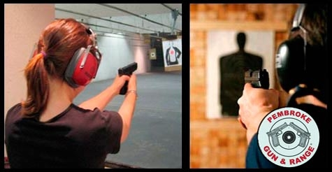 $76 for a shooting package for four at Pembroke Gun & Range