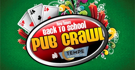 $10 for 2 Tickets to the Back to School Pub Crawl Including Drinks