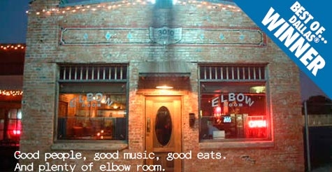 Multiple Best of Dallas Winner: $10 for $20 of food & drink at The Elbow Room