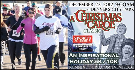 $20 off race registration for the Christmas Carol Classic 5K or 10K