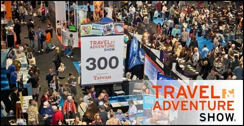 $9 for 2 single-day tickets to Travel and Adventure Show on either January 12 or 13