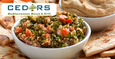 $10 for $20 of food & drink at Cedars Mediterranean Mezza