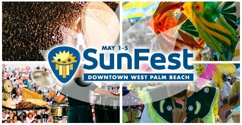 $18 for a One-Day Pass for Sat, May 4 to SunFest 2013
