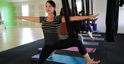 Voice Daily Deals Half Off One Or Three Aerial Yoga Classes At Aerial Yoga Houston
