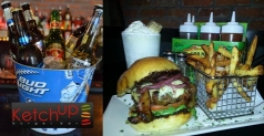 Celebrate National Burger Month with $7 for $14 of food at Ketchup Burger Bar