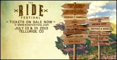 $65 for a 2-Day GA Pass to the Ride Festival on July 13 & 14 in Telluride, CO